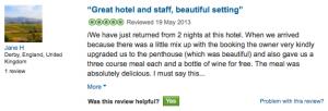 valse hotel beoordeling