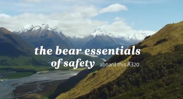 Veiligheidsinstructies in een vliegtuig saai?