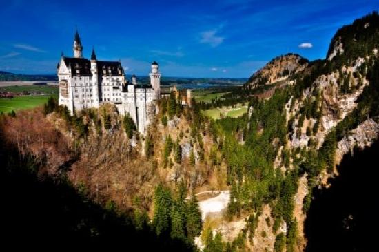 Schloss Neuschwanstein uit de steigers